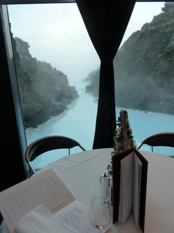 Lava restaurant at the Blue Lagoon overlooks the spa pools. Photo credit: M. Ciavardini