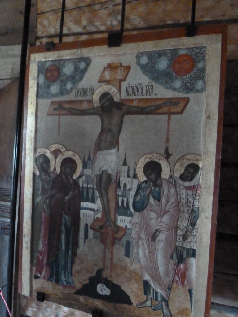 Jesus with dark hair and skin as depicted in art in a church in Kizhi, Russia Photo credit: M. Ciavardini