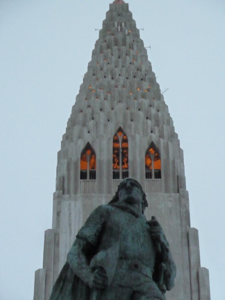 Leif Eriksson in front of Hallgrimskirkja church in Reykjavik, Iceland Photo credit: M. Ciavardini