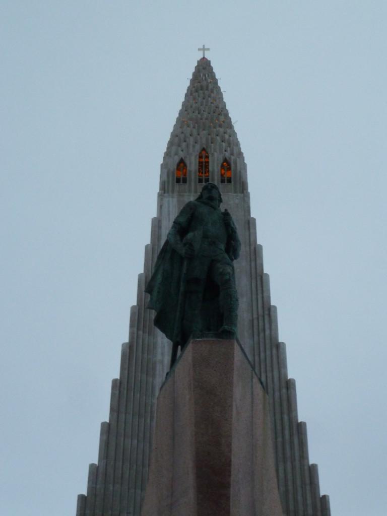 A statue of Leif Eriksson in front of Hallgrimskirkja church in Reykjavik, Iceland Photo credit: M. Ciavardini