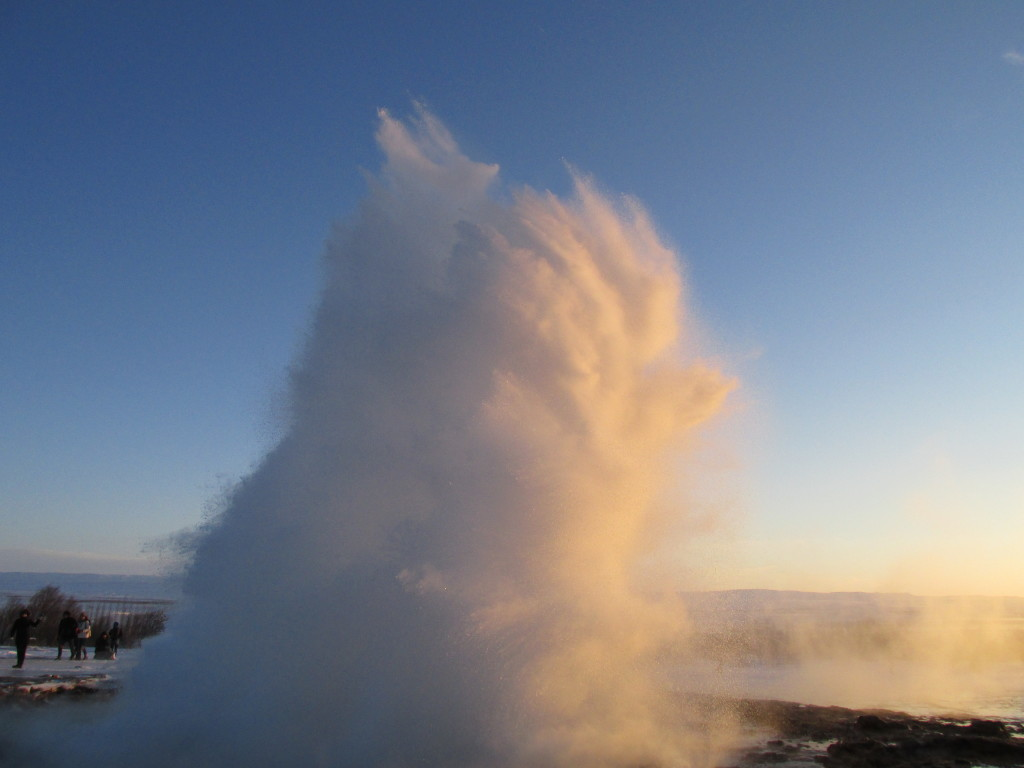 The geyser named Strokkur puts on a good show. Photo credit: M. Ciavardini