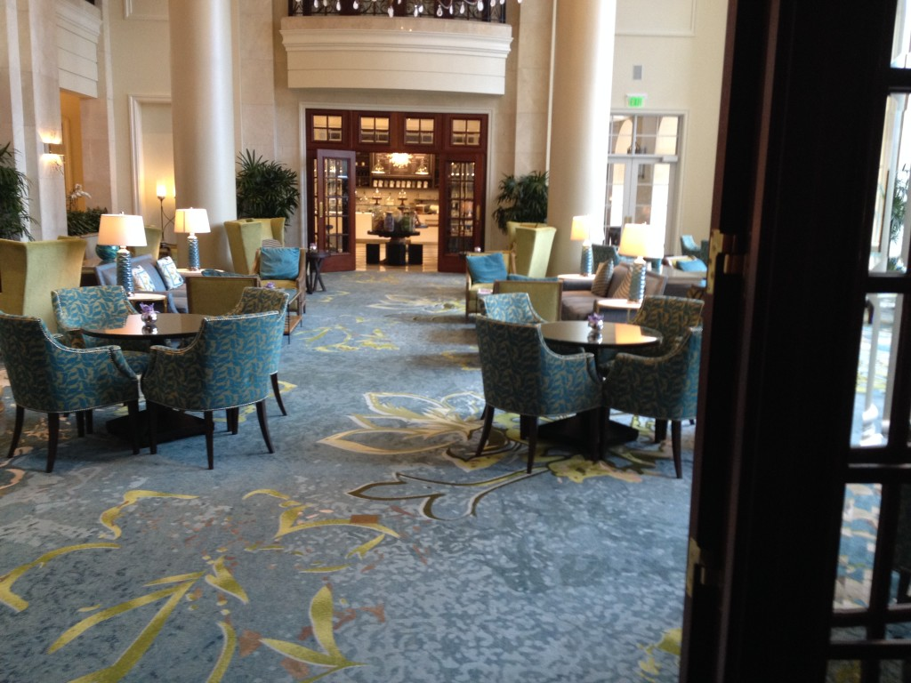 The lobby at the Ritz-Carlton Key Biscayne Photo credit; M. Ciavardini