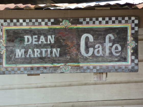 Celebrity names in unexpected places: Does Dino live on in Punta Gorda, Belize? Photo credit: M. Ciavardini