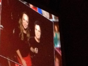 Appearing on the big screen at the Donny & Marie show in Las Vegas Photo credit: M. Ciavardini