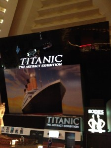 Titanic exhibition at the Luxor hotel in Las Vegas