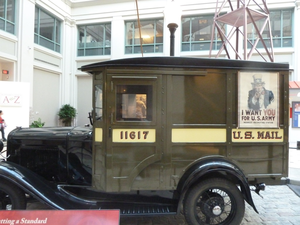 old mail truck at the National Postal Museum in Washington, D.C.