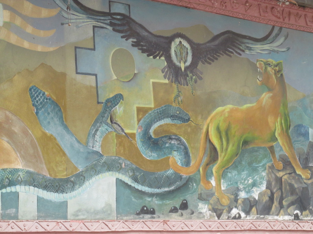 A mural at a cemetery in Cusco, Peru