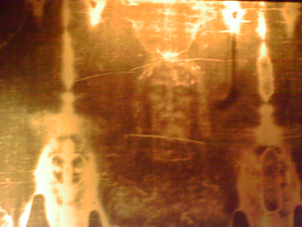 Jesus as seen in an image of the Shroud of Turin at Saint Sulpice Church in Paris Photo credit: L. Tripoli