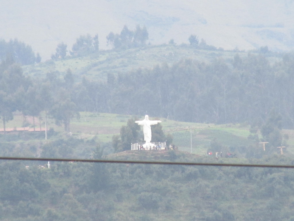 statue of Jesus in Cusco, Peru