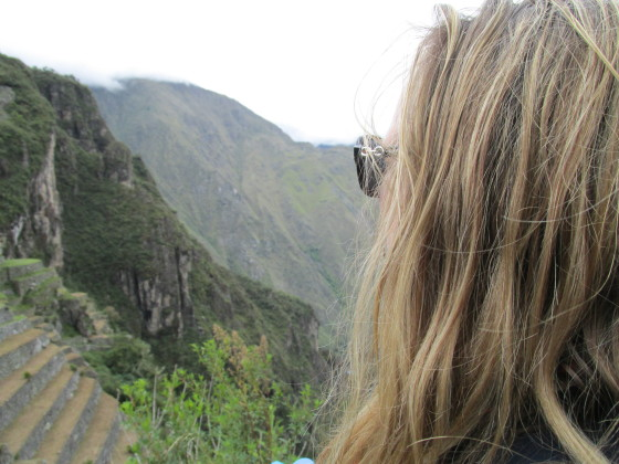 Looking out at the world from Machu Picchu, Peru Photo credit: M. Ciavardini