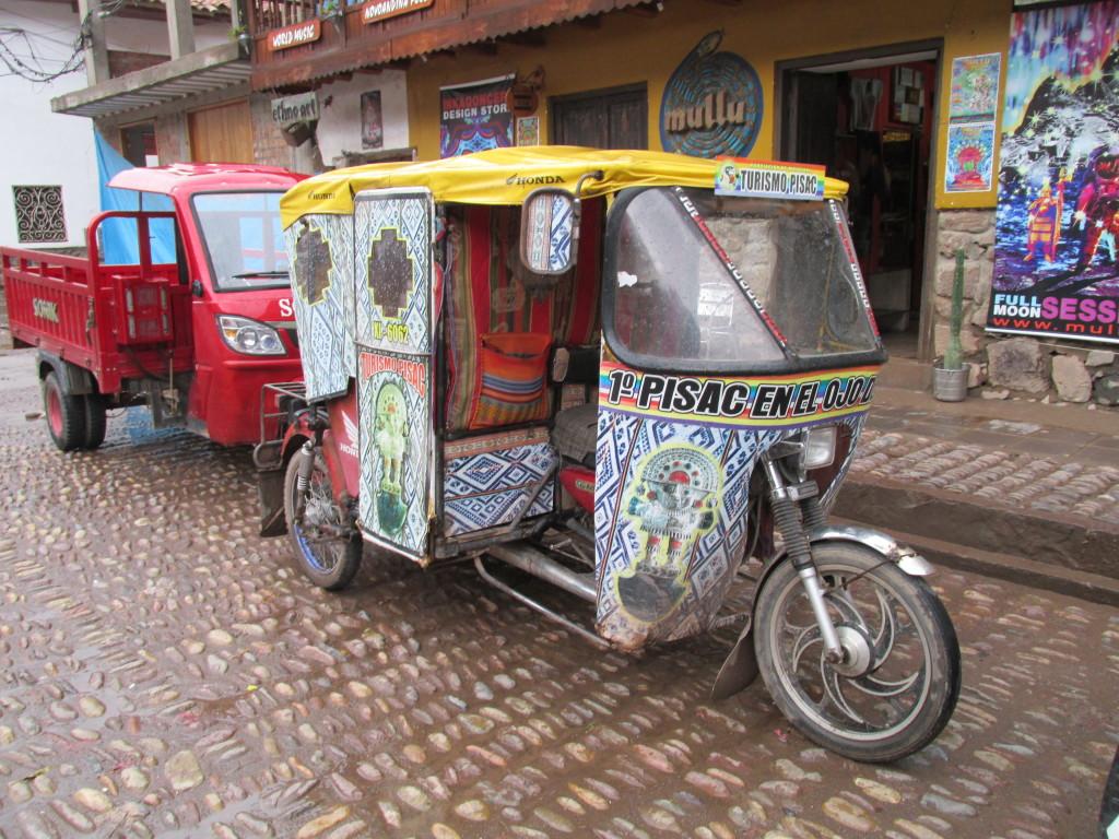 Vehicle for hire, Pisac, Peru. Photo credit: M. Ciavardini
