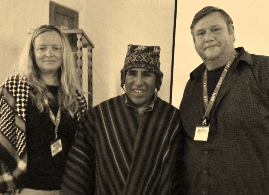 The Bashful Adventurer and the Brawny Sherpa with a shaman in Cusco, Peru