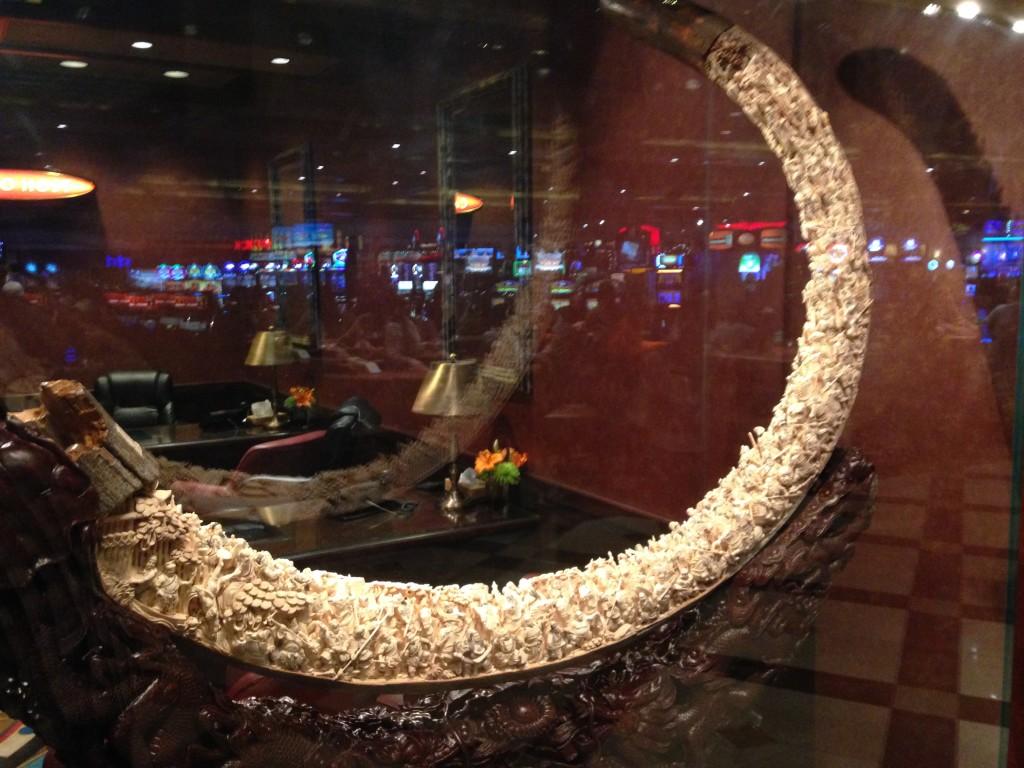 History on a woolly mammoth tusk in Las Vegas Photo credit: M. Ciavardini