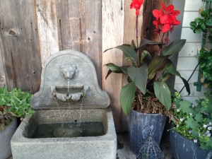 A fountain at the Inn at Pound Ridge in Westchester county, New York Photo credit: M. Ciavardini
