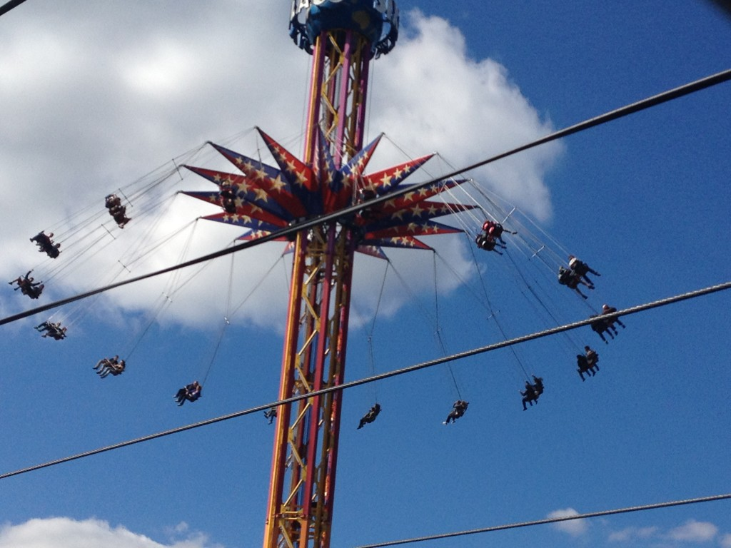 A dizzying ride at Six Flags Great Adventure in Jackson, N.J. Photo credit: M. Ciavardini