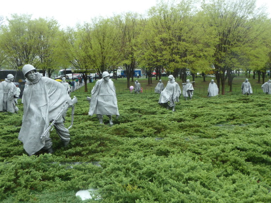 The Korean War Veterans Memorial in Washington, D.C. was dedicated on July 27, 1995 Photo credit: M. Ciavardini