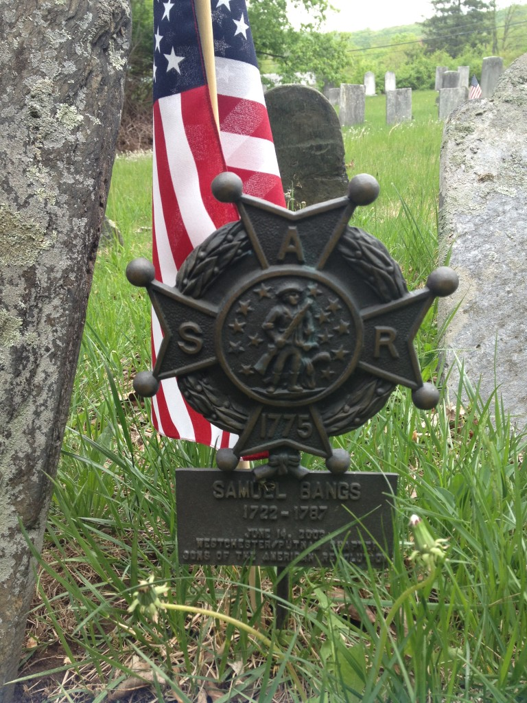 A Sons of the American Revolution marker commemorating the contributions of Samuel Bangs Photo credit: M. Ciavardini