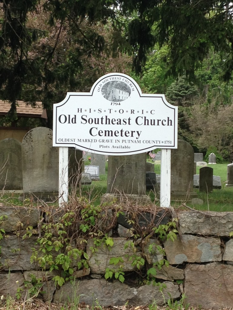 The oldest grave at the Old Southeast Church Cemetery in Brewster, N.Y. dates from 1751. Photo credit: M. Ciavardini