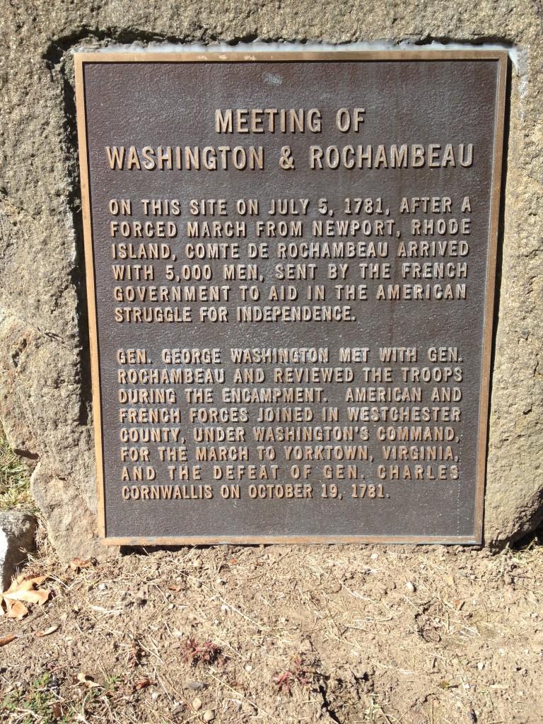 Recalling Rochambeau in Mount Kisco, N.Y. Photo credit: M. Ciavardini