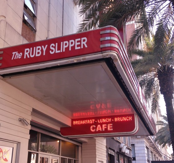 The Ruby Slipper Cafe on Canal Street in New Orleans Photo credit: M. Ciavardini