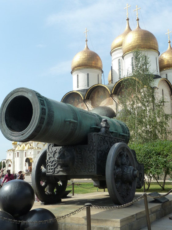 Napoleon's army left a cannon behind in the Kremlin, Moscow. Photo credit: M. Ciavardini