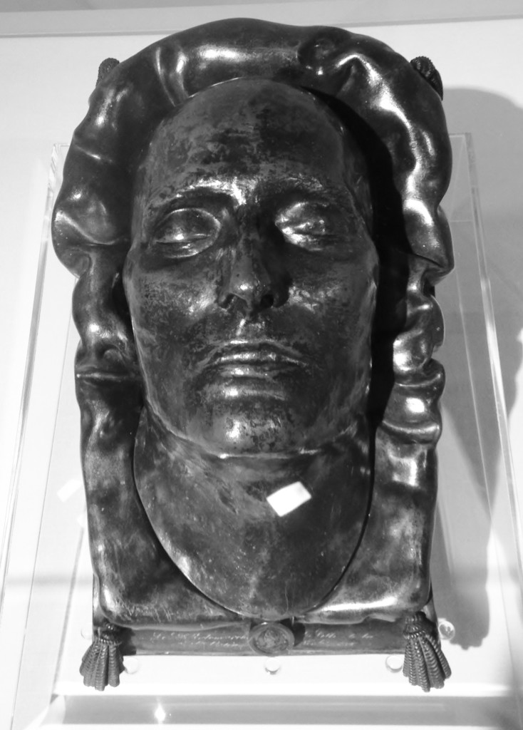 Napoleon's death mask on display at the Cabildo in New Orleans Photo credit: M. Ciavardini