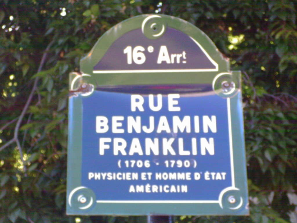 Rue Benjamin Franklin, Paris