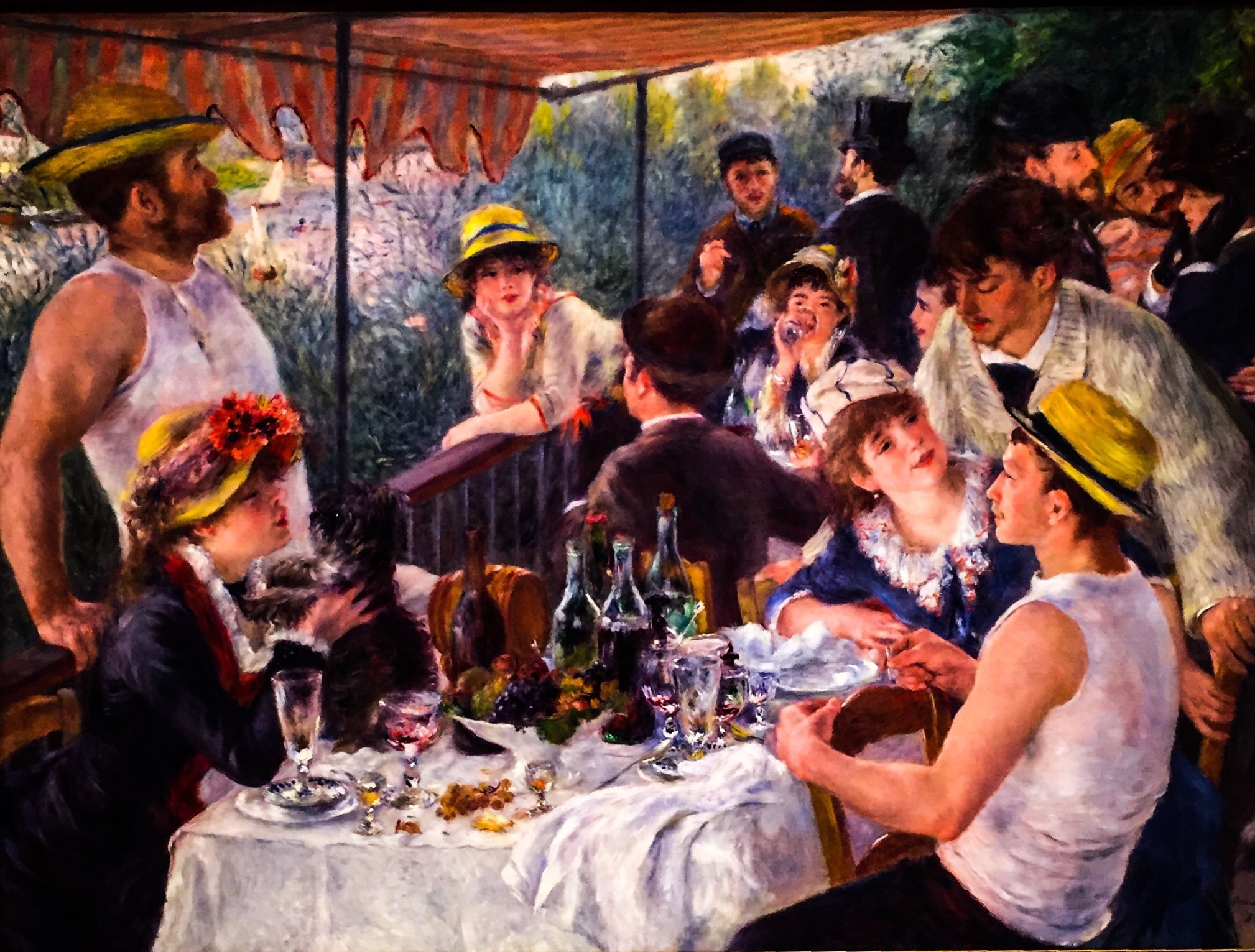 Pierre-Auguste Renoir's Luncheon of the Boating Party at the Phillips Collection in Washington, D.C. Photo credit: M. Ciavardini