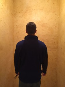 A visitor assesses the wax room at the Phillips Collection in Washington, D.C. Photo credit: M. Ciavardini