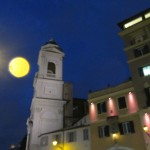 A moonlit view just steps from the entrance of the Hotel Scalinata di Spagna Photo credit: M. Ciavardini