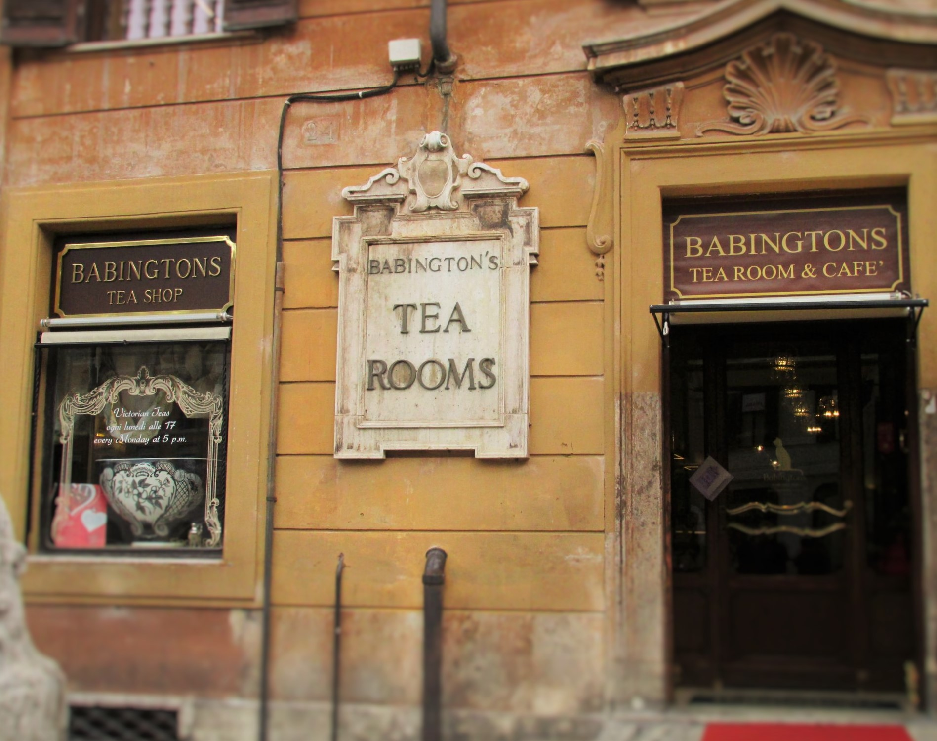 Babington's Tea Rooms at the bottom of the Spanish Steps in Rome. Photo credit: M. Ciavardini