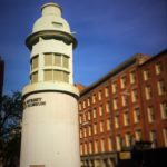 The Titanic Memorial Lighthouse at the South Street Seaport in New York City Photo credit: M. Ciavardini