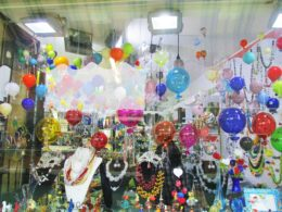 Windows beckon in Murano, but should travelers with children enter glass shops? Photo credit: M. Ciavardini