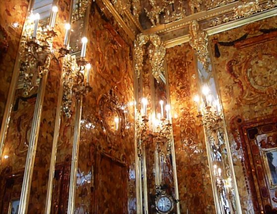 The Amber Room, Catherine Palace, Pushkin, Russia. Photo credit: M. Ciavardini