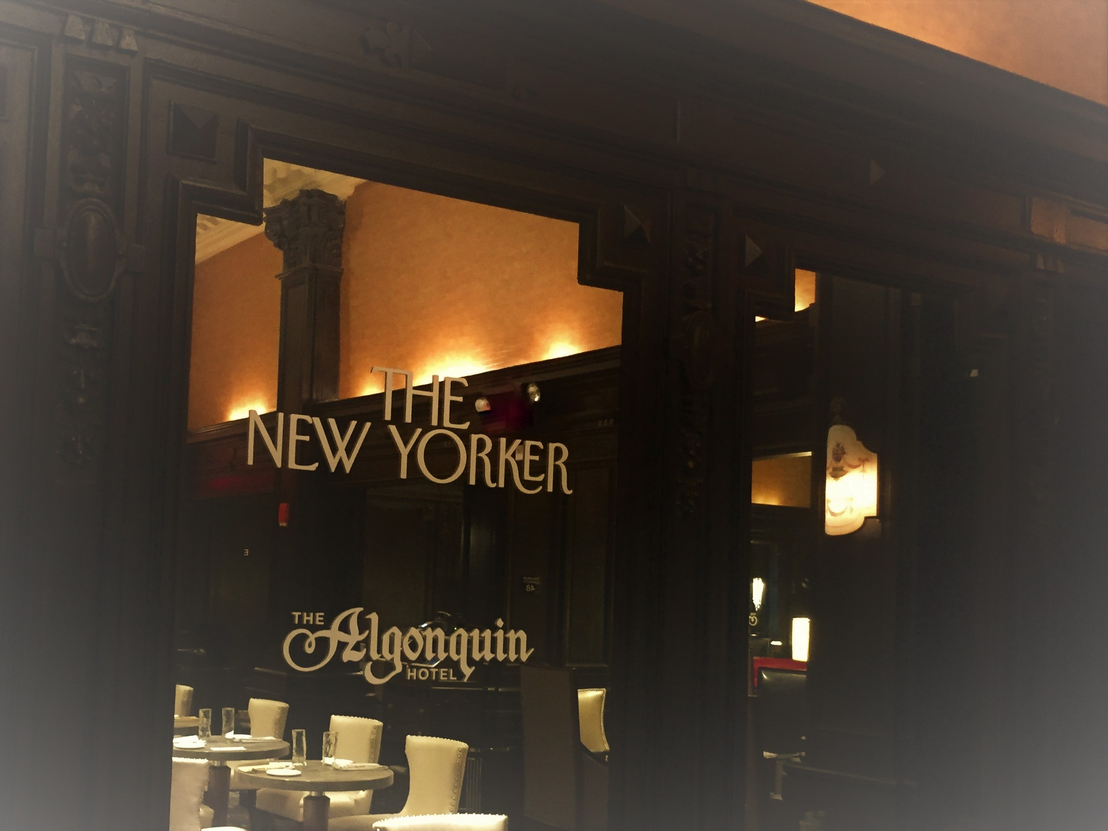 Looking for literary ghosts at the Algonquin Hotel in New York City. Photo credit: M. Ciavardini