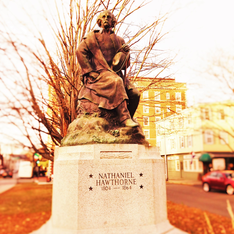 Statue of Nathaniel Hawthorne in Salem, Mass. Photo credit: M. Ciavardini