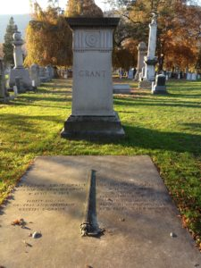The Grant family plot at West Point Cemetery. Photo credit: M. Ciavardini