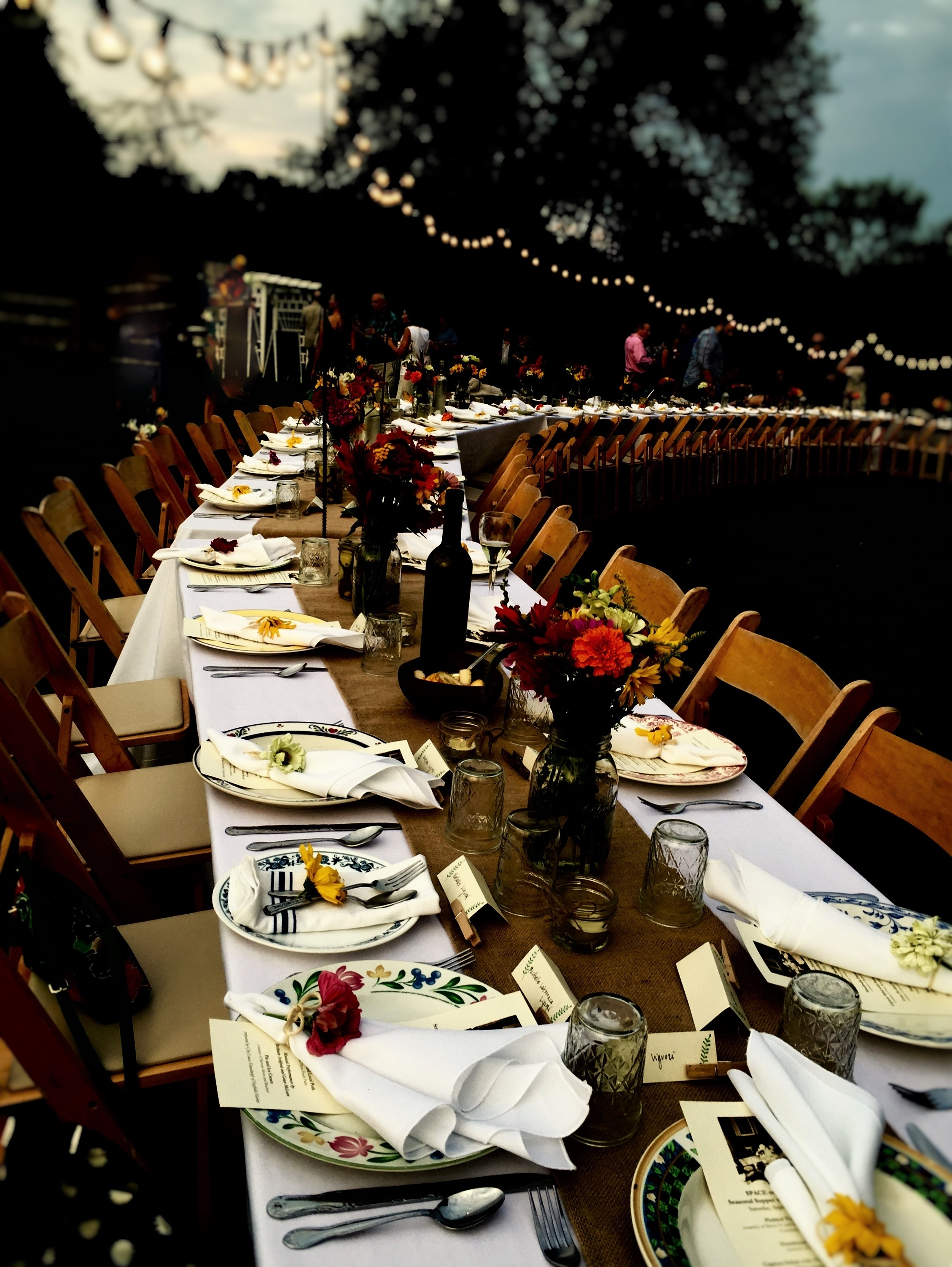 An outdoor supper at Ryder Farm in Brewster, N.Y. Photo credit: M. Ciavardini