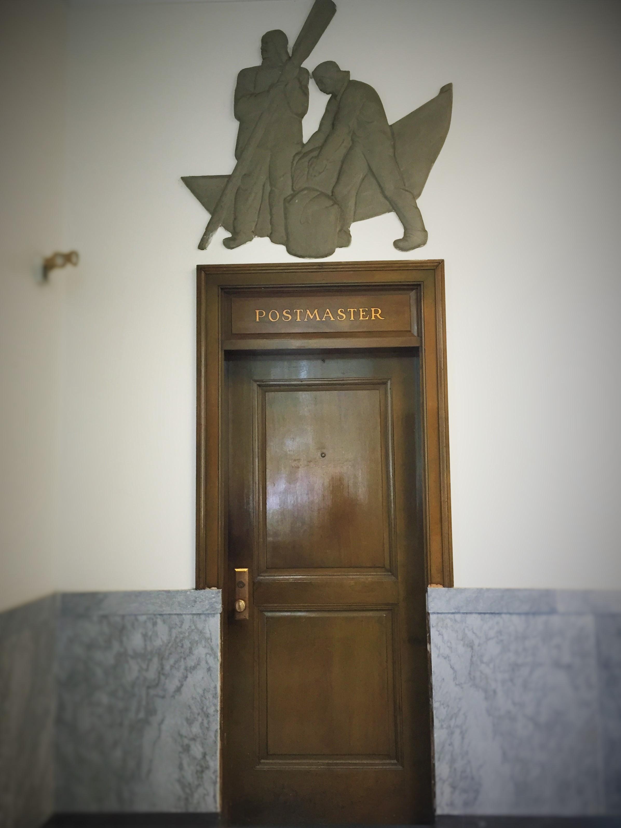 Postmaster art, Hyannis, Mass. Photo credit: M. Ciavardini