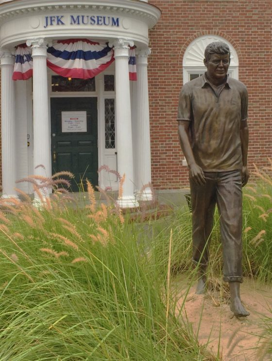 The Hyannis, Mass. Post Office is just a short walk on Main Street away from the John F. Kennedy Museum. Photo credit: M. Ciavardini