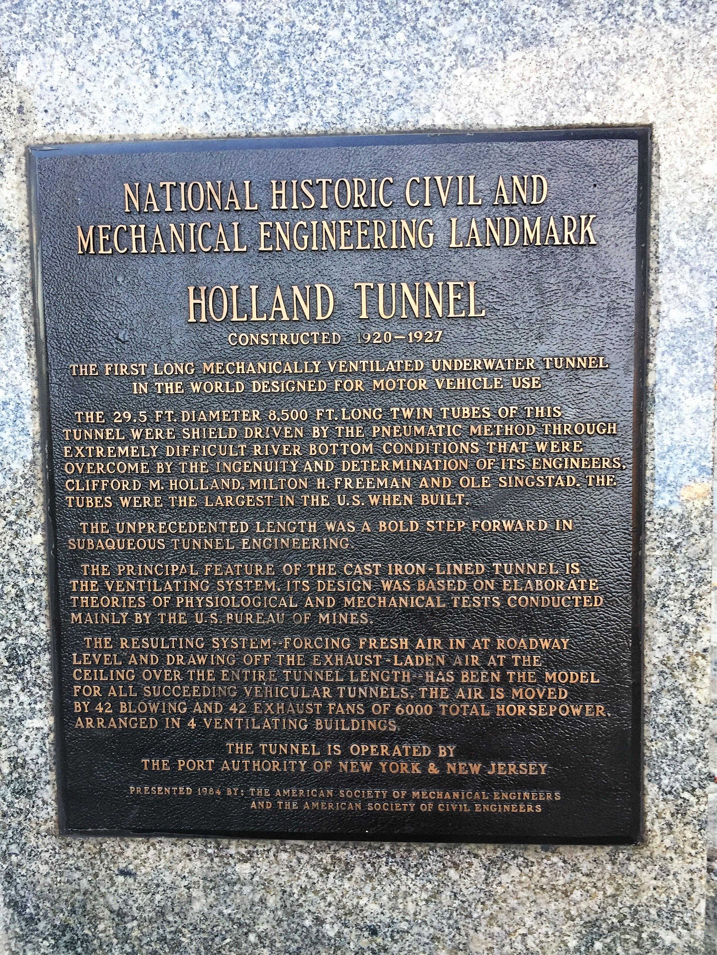Did you know that New York City's Holland Tunnel is a National Historic Landmark? Photo credit: L. Tripoli