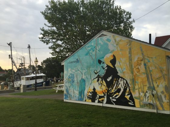 Murals, art, water, Hyannis. Photo credit: M. Ciavardini
