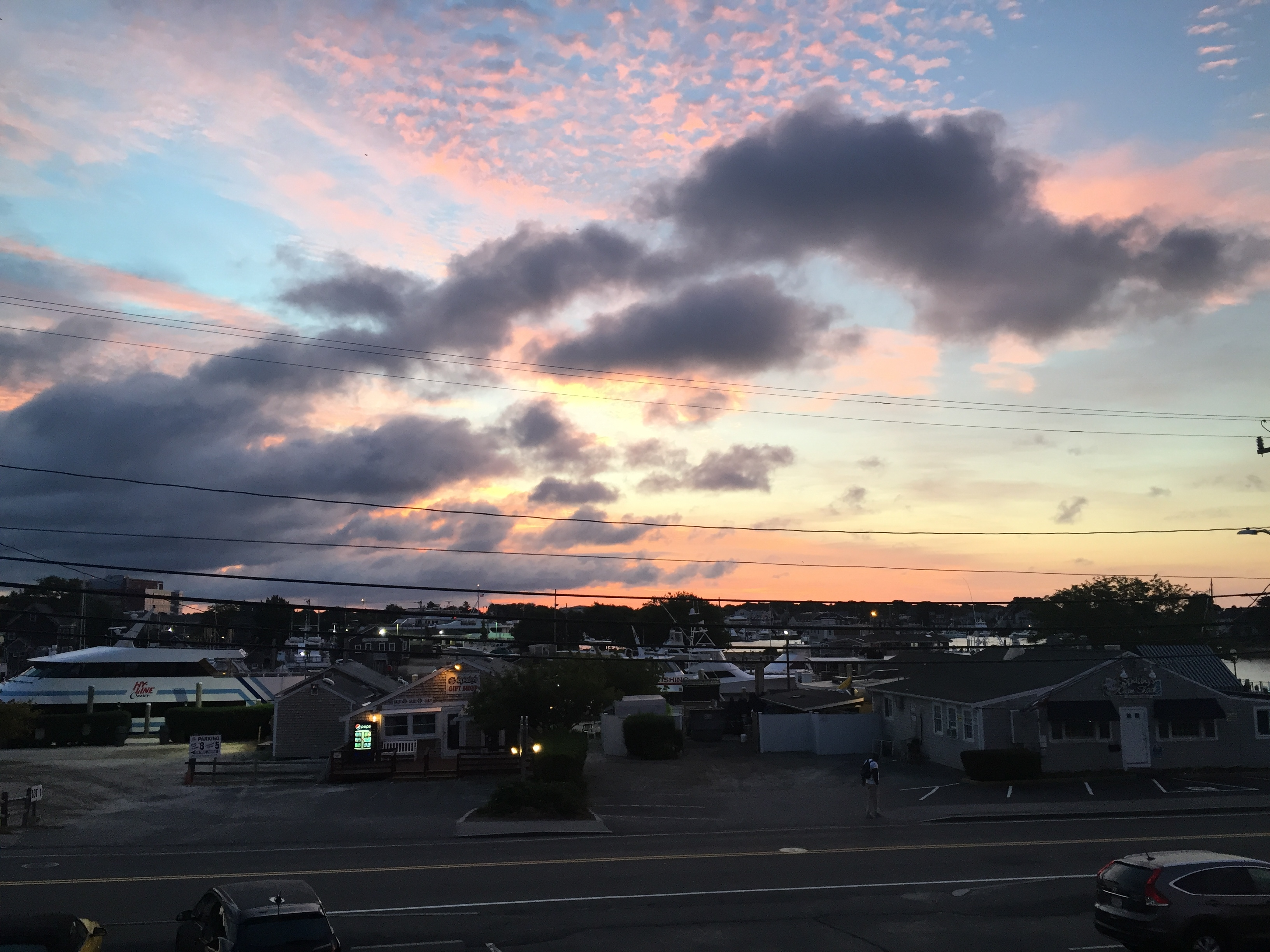 The view of Hyannis Harbor from the Hyannis Holiday Motel. Photo credit: M. Ciavardini