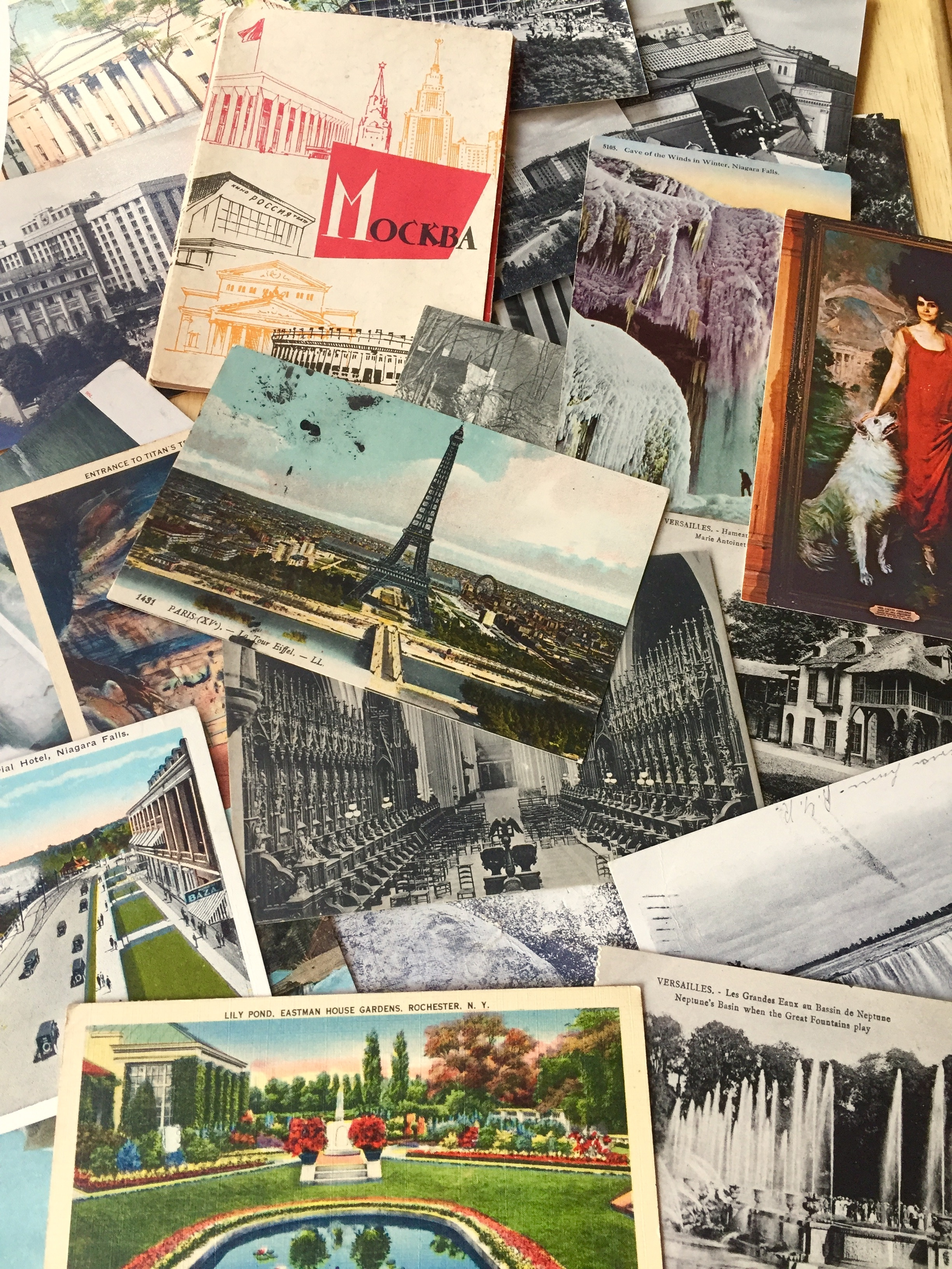 Remember your travels with postcards. Photo credit: L. Tripoli