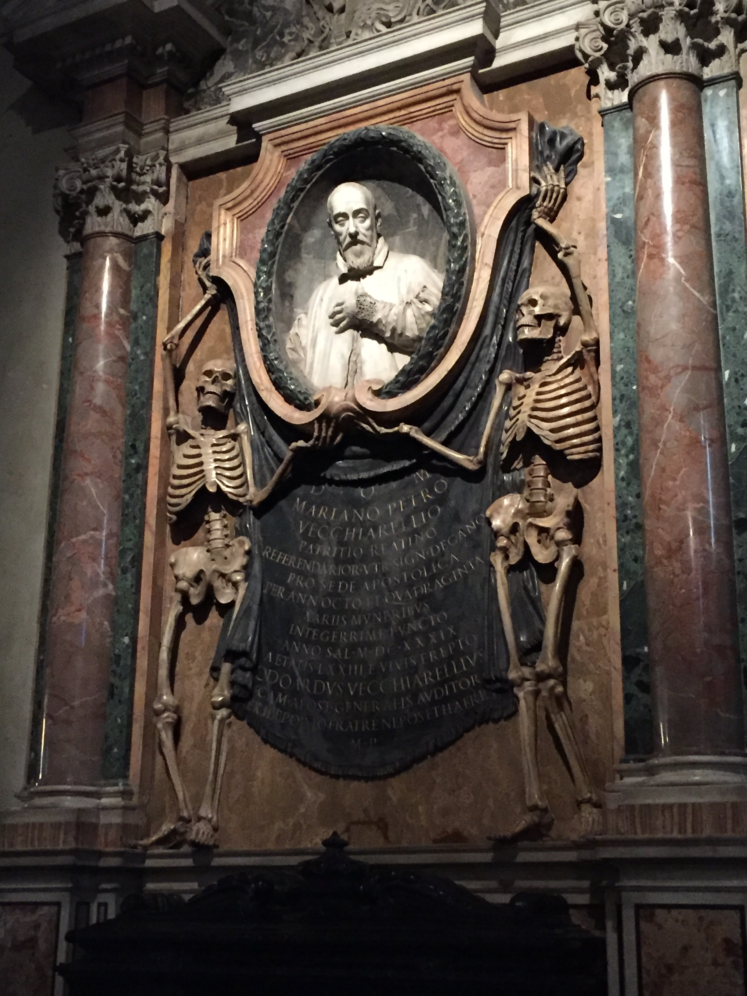 Skeleton art at St. Peter in Chains in Rome. Photo credit: M. Ciavardini