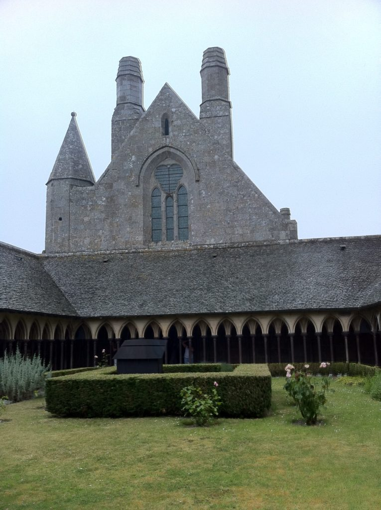 Mont Saint-Michel's cloisters seem much greener now than they were in the 1960s. Photo credit: V. Laino