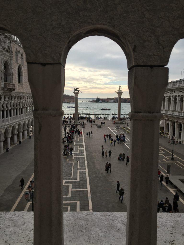 View of the piazzetta from the Loggia dei Cavalli in San Marco Basilica, Venice. Photo credit: M. Ciavardini