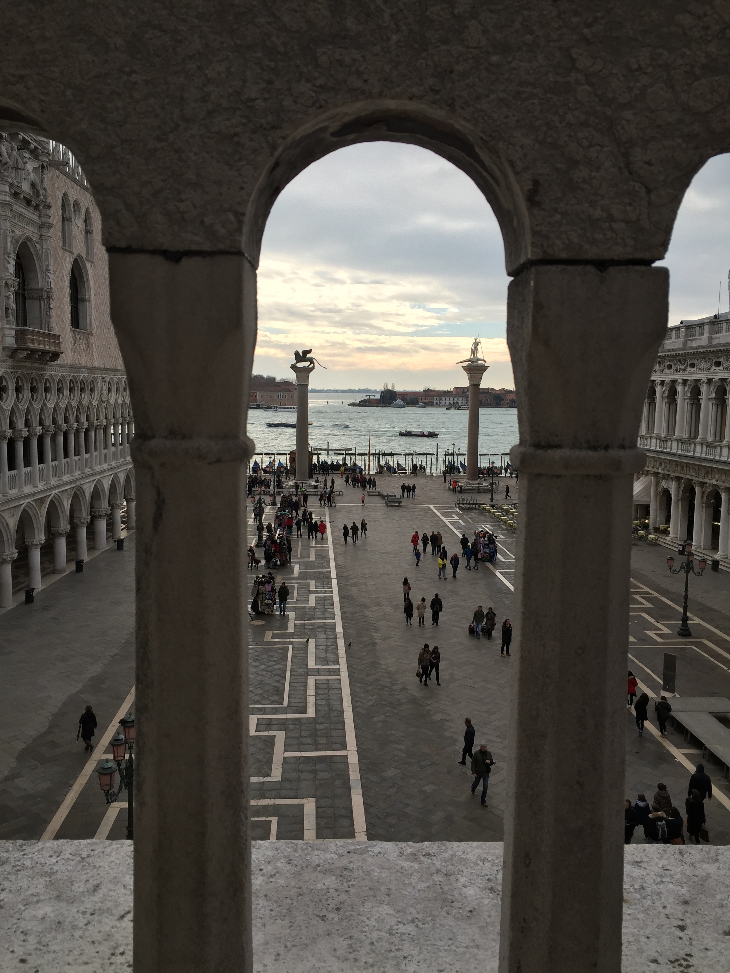 View of the piazzetta from the Loggia dei Cavalli in San Marco Basilica, Venice. Photo credit: M. Ciavardini
