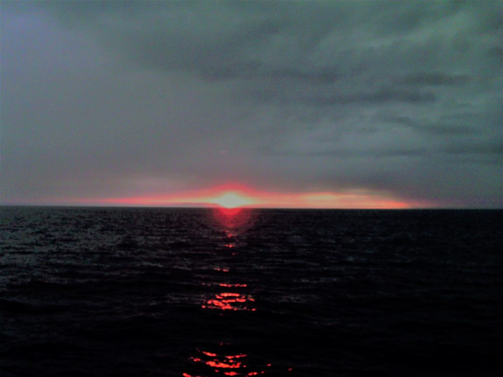 Traveling close to the equator can mean only one thing: Neptune, King of the Seas, is about to appear. Photo credit: L. Tripoli