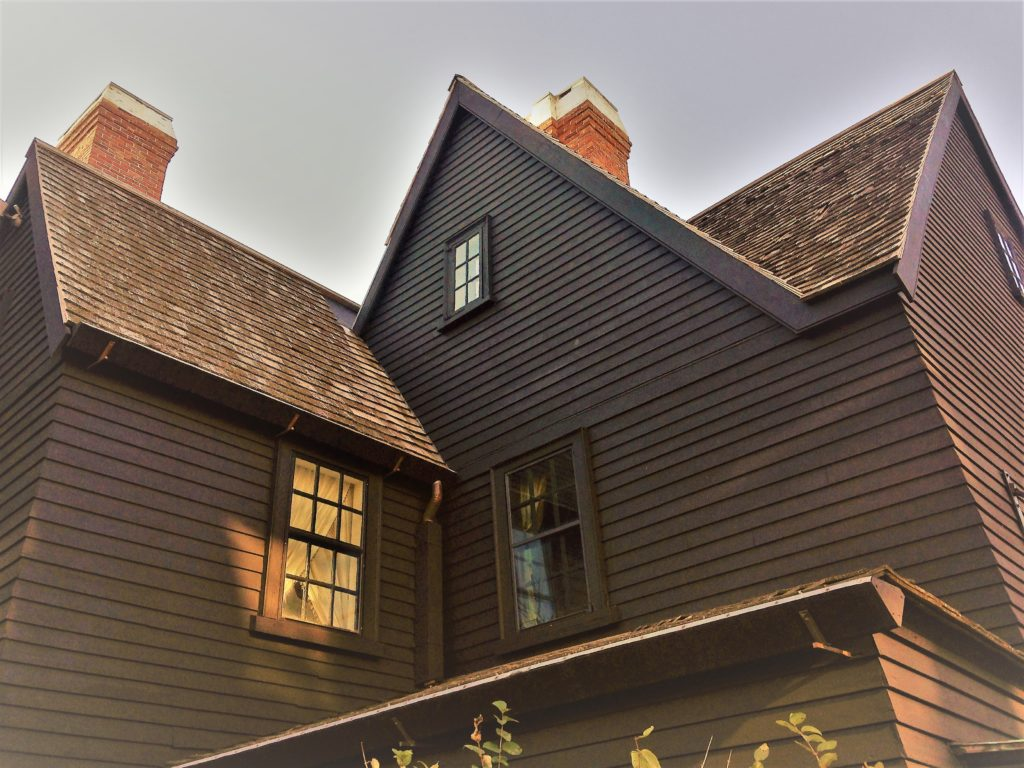 Some say they have experienced the presence of spirits in the House of the Seven Gables. Do you see one? Photo credit: M. Ciavardini